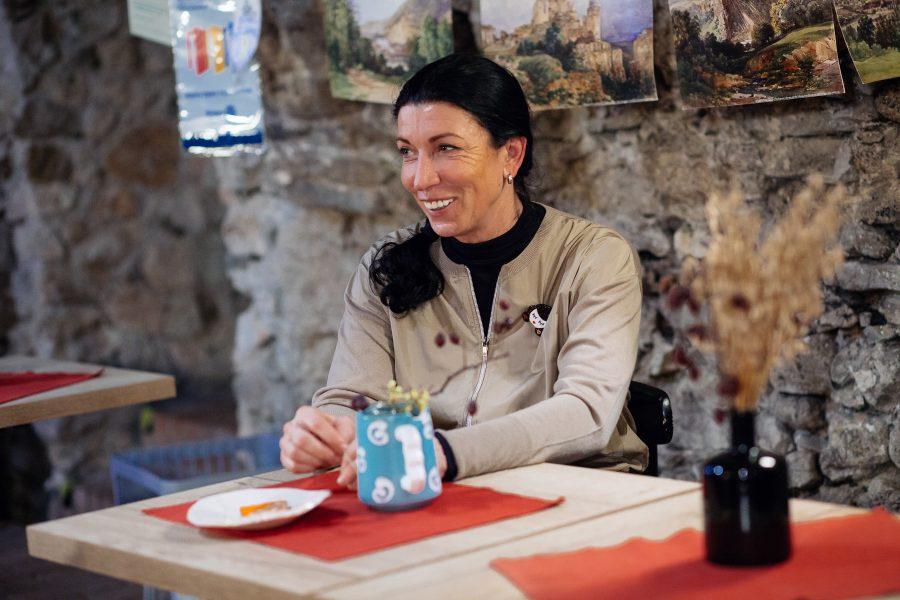 Marka Dutková s úsmevom